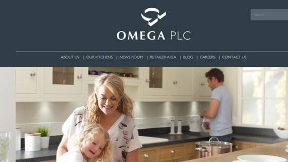 The Omega Kitchens website