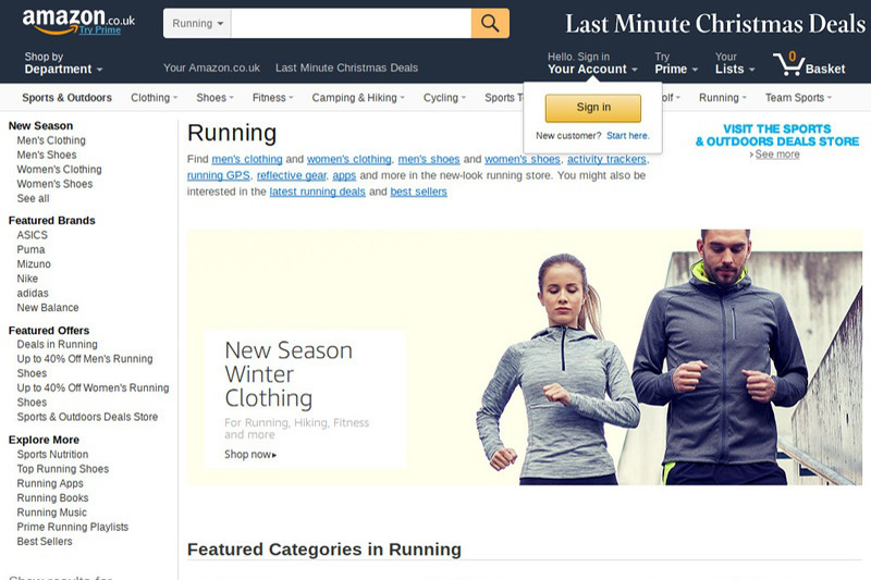 Amazon Running Gear