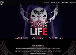 Ghost creative web design worcestershire