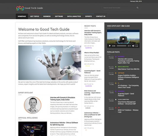 Good Tech Guide technology website