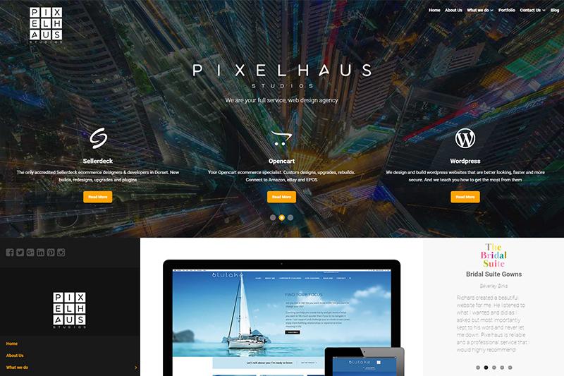 Pixelhaus web design, ecommerce and marketing in Dorset