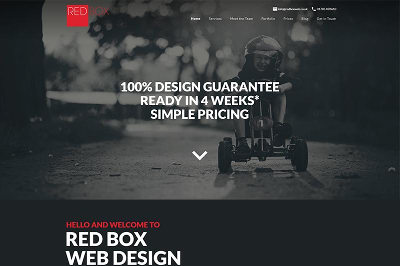 Red Box web design Staffordshire