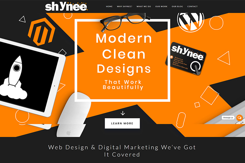 Shynee website design Bedfordshire