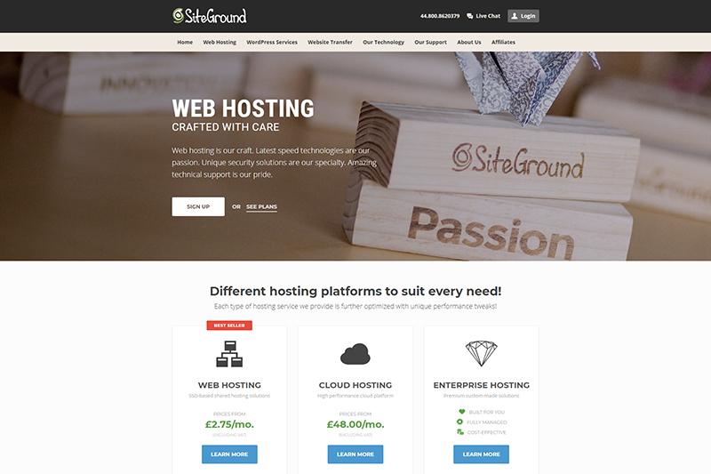 SiteGround web Hosting UK