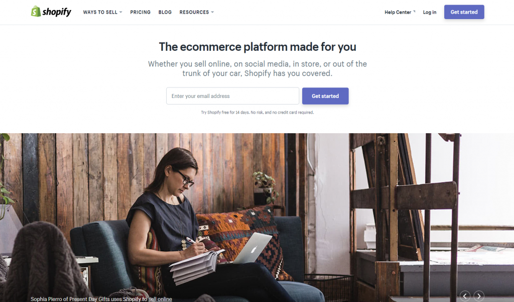 Top ecommerce site builder - the Shopify platform