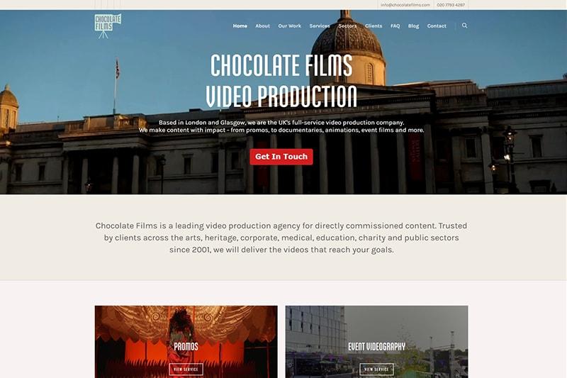 Chocolate Films London and Glasgow