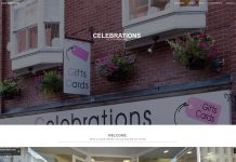 Celebrations of Stourbridge gift shop West Midlands