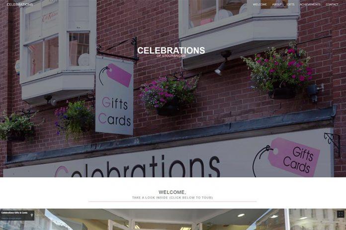 Celebrations of Stourbridge gift shop West Midlands