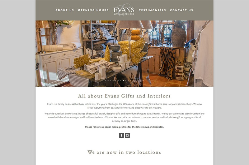 Evans Gifts and Interiors