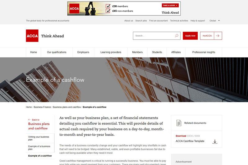 ACCA cashflow planning